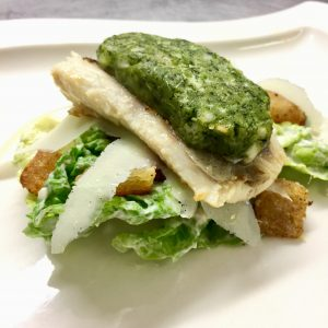 Hake fillet , ceasar salad , posh restaurants in blackpool